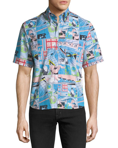 Color Comics Graphic Poplin Shirt