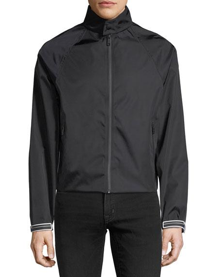 Gabardine Contrast-Lined Flight Jacket