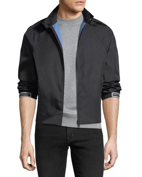 Prada Gabardine Contrast-Lined Flight Jacket