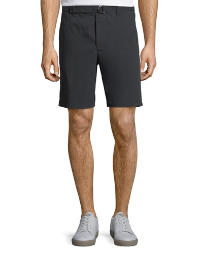 Men's Belt-Waist Cotton-Blend Shorts