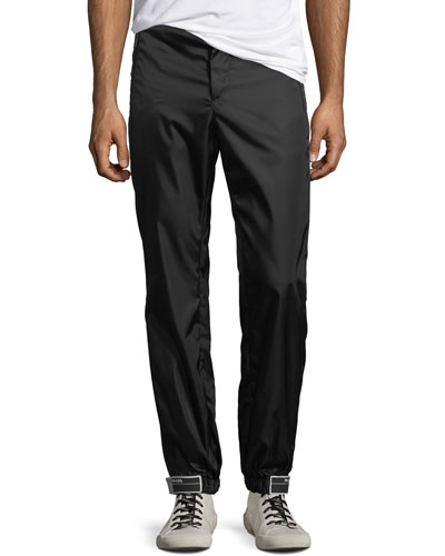 Men's Flat-Front Gabardine Chino Trousers