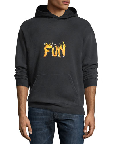 Men's Fun Graphic Cotton Hoodie