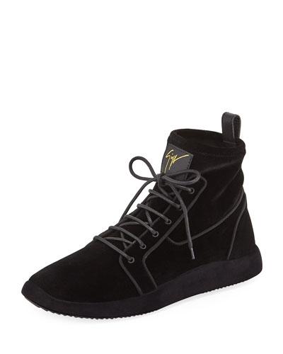 Men's Land High-Top Velvet Sneakers