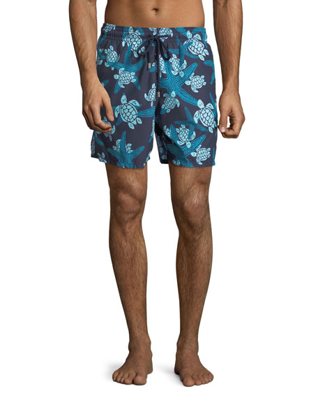 fa926ae97659 Vilebrequin Moorea Turtle   Starfish Swim Trunks In Navy