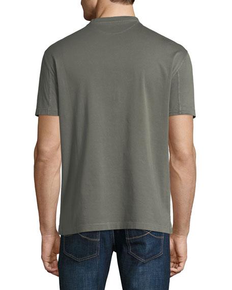 Washed Cotton V-Neck T-Shirt