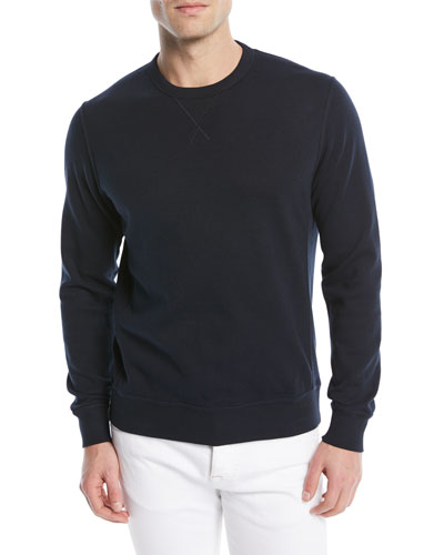 Men's Solid Cotton-Blend Sweatshirt