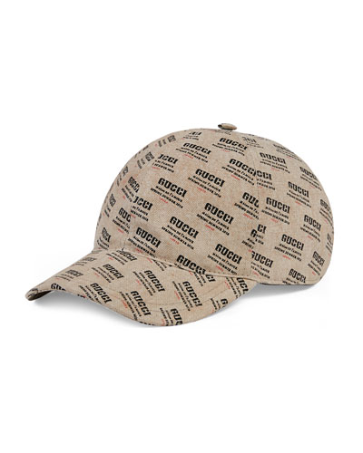 Logo Invite-Print Canvas Baseball Cap