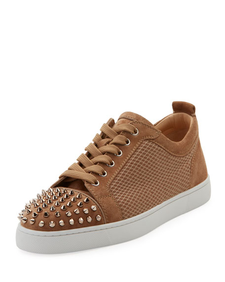 0592f0c9a062 Christian Louboutin Men s Louis JR Low-Top Spiked Sneakers