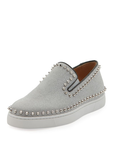 Men's Pik Boat Leather Slip-On Sneakers