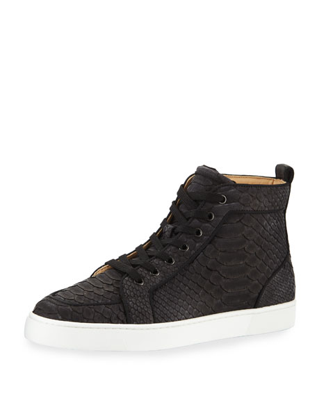 Men's Rantus Python High-Top Sneakers