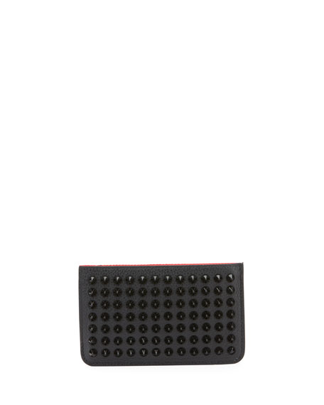 Christian Louboutin Men's Panettone Spikes Key Ring Pouch