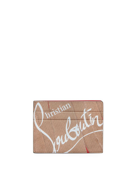 Christian Louboutin Men's Kios Kraft Paper Leather Card