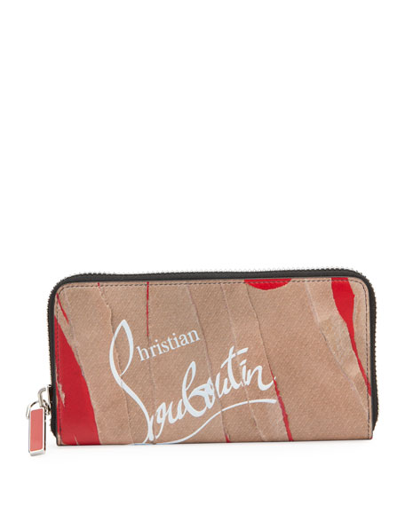 Christian Louboutin Men's Panettone Leather Zip Wallet