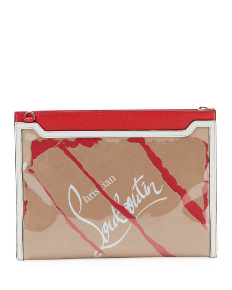 Christian Louboutin Men's Skypouch Kraft Shoulder Bag
