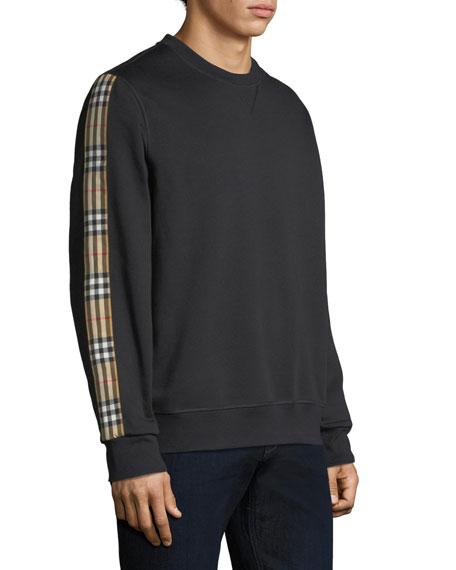 Men's Camilla Check-Striped Sweatshirt