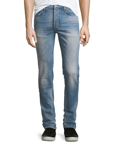 Sartor Slouchy Distressed Skinny Jeans