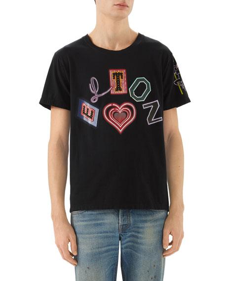 c342a14a4213 Gucci Elton John Heart Graphic T-Shirt