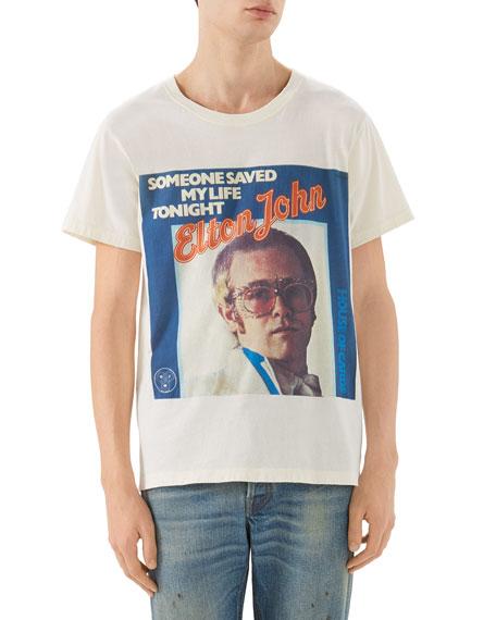 8e76de43278f Gucci Vintage Elton John Album-Graphic T-Shirt