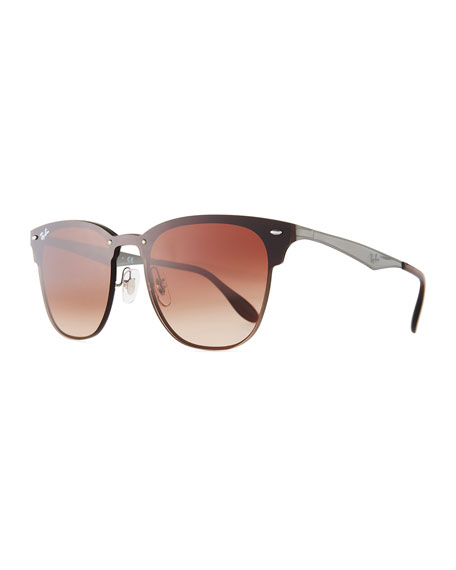 7e66ed3ab7e1c Ray-Ban Blaze Clubmaster Lens-Over-Frame Men s Sunglasses