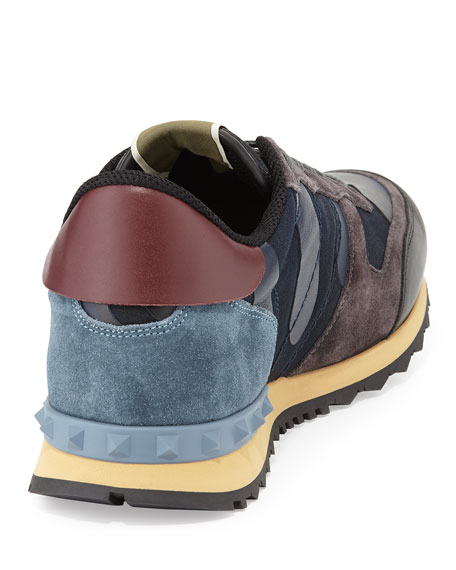 camouflage Rockrunner sneakers - Blue Valentino welSM3Ud