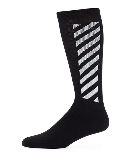 3a37c2f7ff12 Off-White Men s Wing Off Diagonal Socks