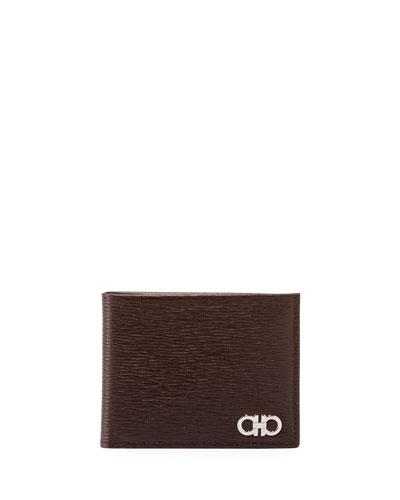 Men's Revival Bi-Fold Lizard-Embossed Leather Wallet