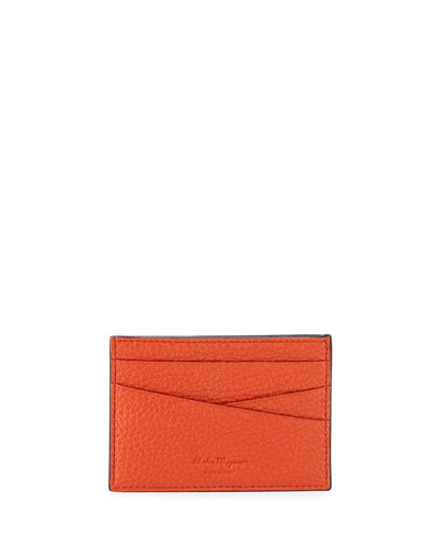 Men's Firenze Flat Colorblock Leather Card Case