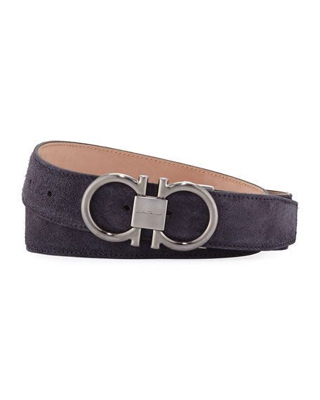 Salvatore Ferragamo Men's Parigi Suede Gancini Belt