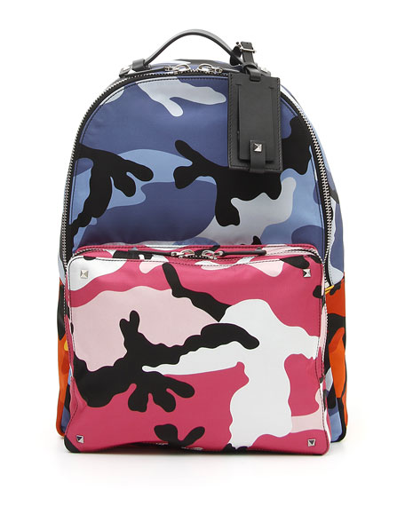 Image 1 of 1: Men's Multicolor Camo-Print Backpack