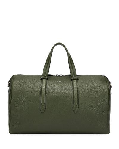 Men's Firenze Leather Weekender Duffel Bag  Green
