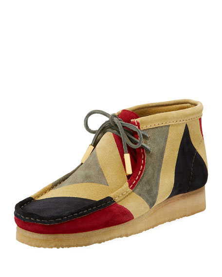Sycamore Style Men's Geometric Suede Wallabee/Moc Chukka Boot,