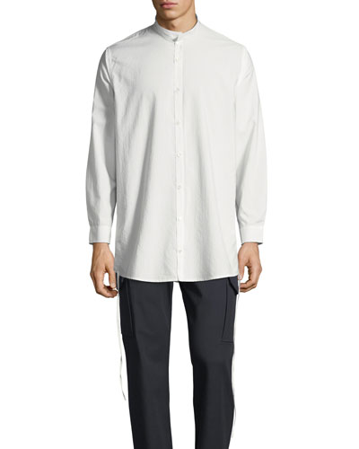 Men's Ull Mandarin-Collar Button-Front Shirt