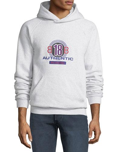 Men's Authentic Logo Graphic Hoodie