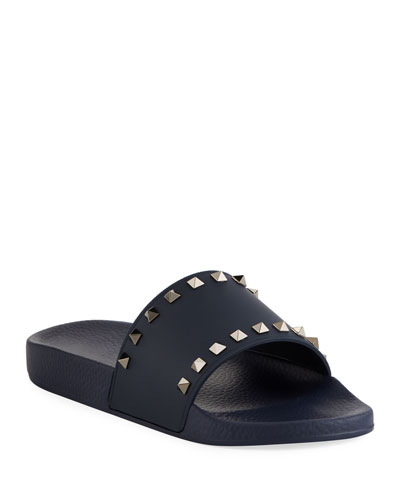 Men's Rockstud Vinyl Pool Slide Sandals