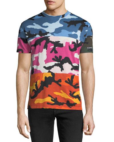 Shuffle Camouflage Paneled T-Shirt