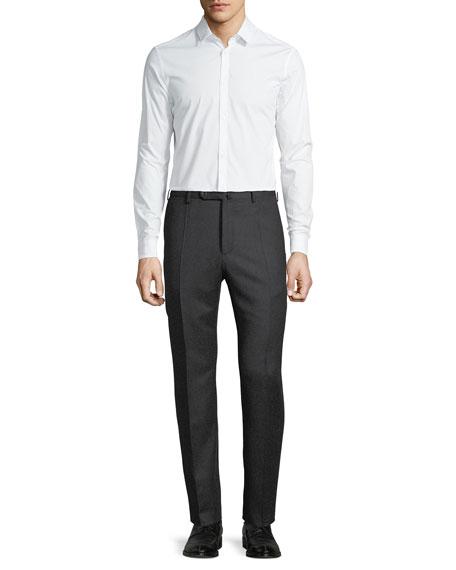 Benson Five-Pocket Standard-Fit Techno Wool Flannel Trousers