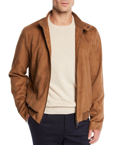 Men's Skytree Suede Biker Jacket