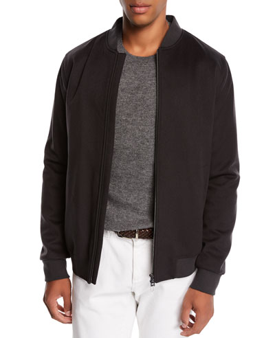Men's Ivy Cashmere Bomber Jacket