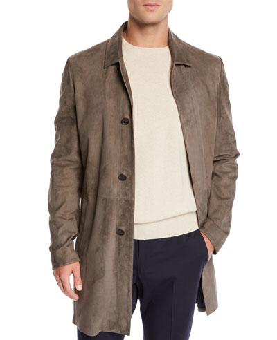 Men's Watery Suede Coat