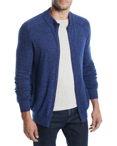 Men's Bantiger Cashmere-Silk Bomber Sweater