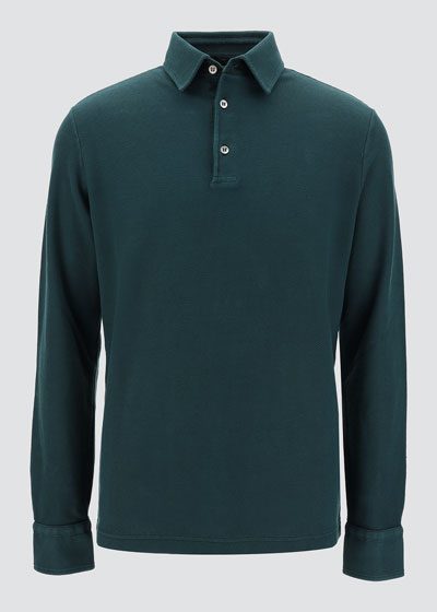 Men's Long-Sleeve Pique Polo Shirt