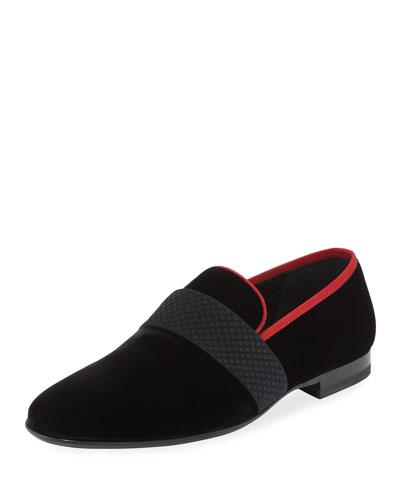 Men's Velvet Formal Loafer Slipper