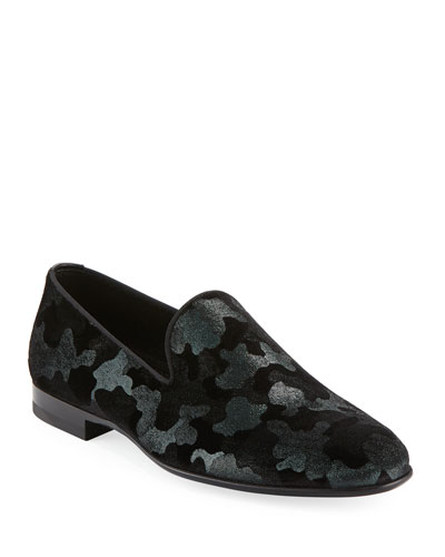 Men's Camo Velvet Formal Loafer