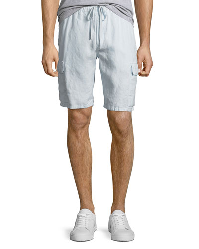 Men's Hemp Drawstring Cargo Shorts