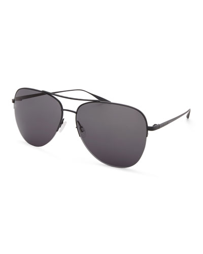 Men's Chevalier Satin Aviator Sunglasses