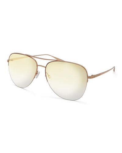Men's Chevalier Mirrored Aviator Sunglasses