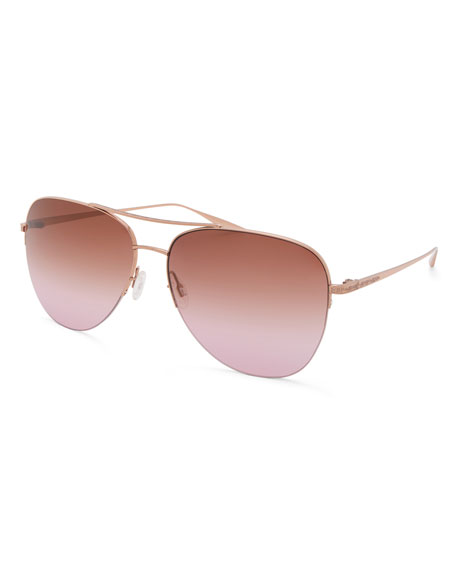 Barton Perreira Men's Chevalier Gradient Aviator Sunglasses