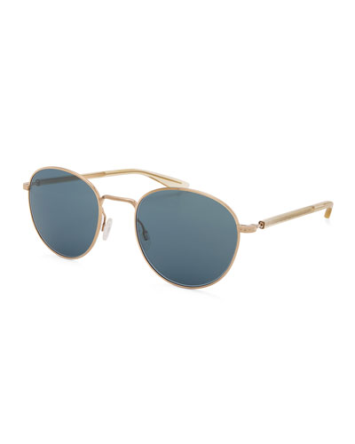 Tudor Men's Universal-Fit Round Sunglasses