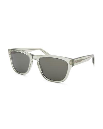 Men's Bunker Plastic Square Sunglasses
