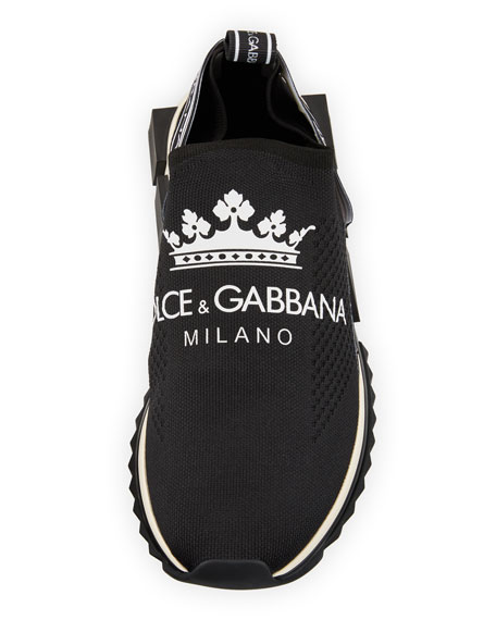 17a2b98abf9 Dolce   Gabbana Men s Sorrento Logo-Stripe Slip-On Trainer Sneakers